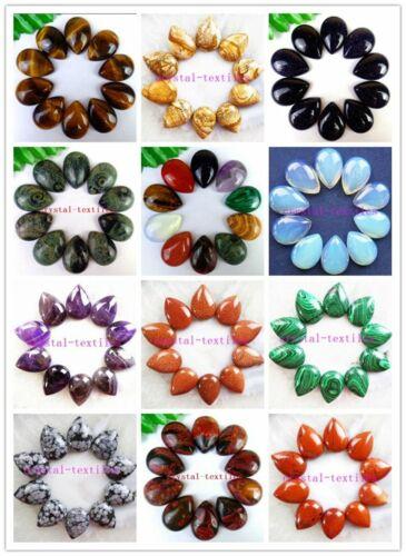 10Pcs multicolor mezclado piedras Preciosas Piedra Lágrima Cab Cabujón 25*18*6mm HH6477