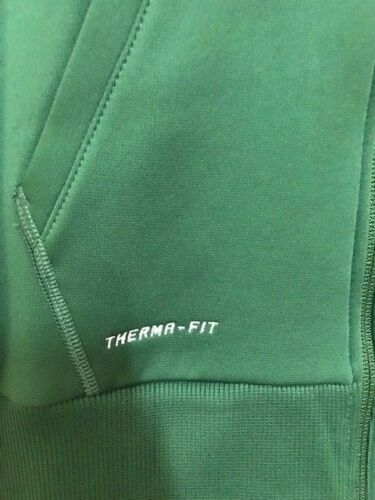 Nike Women/'s Therma-Fit Full Zip Poly Fleece Hoodie Green//White 100/% Polyester