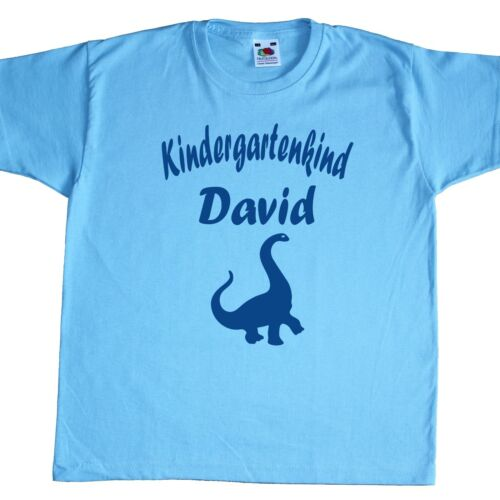 Fun Kinder T-Shirt Kindergartenkind Kindergarten Fruit of the Loom Name frei