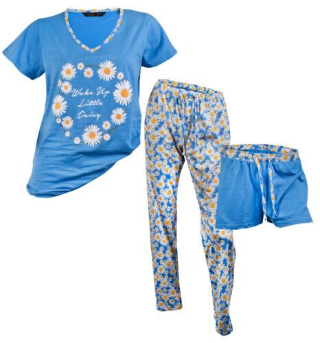 Ladies 3 Piece Lounge Set Long Short Pyjama