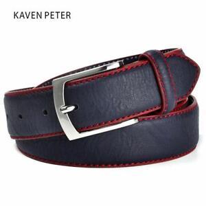 Fashion-Brand-Man-Belt-Split-Leather-Belt-Italian-Design-Casual-Men-039-s-Belts