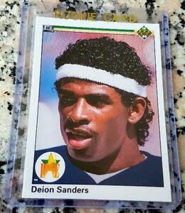 DEION-SANDERS-1990-Upper-Deck-1-Draft-Pick-STAR-Rookie-Card-RC-Yankees-HOF