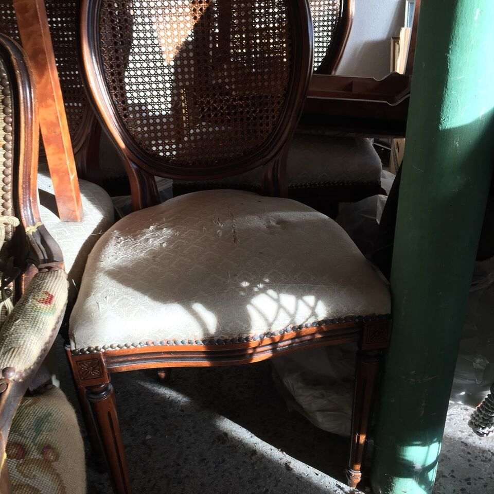 Spisebordsstol, Mahogni, Antik