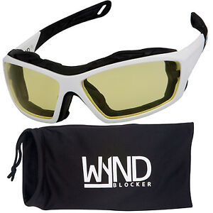 ff6557991e0 Details about WYND Blocker White Motorcycle Sunglasses Extreme Sports  Boating Driving Glasses