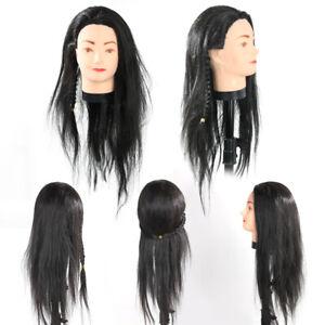 Professional-Hairdressing-Training-Mannequin-Practice-Head-65cm-Black-Hair