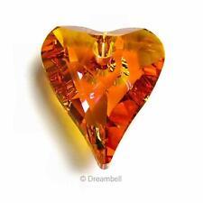 1x Swarovski Elements Crystal 6240 Astral Pink Wild Heart Charm Pendant 17mm