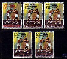 ZAIRE - 1975 - BOXING - ALI / FOREMAN FIGHT - OVPT - MINT - MNH - SET!