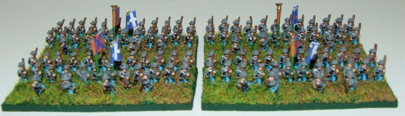6mm American Civil War Confederate infantry