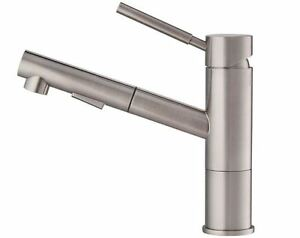 Single Handle Kitchen Faucet Pull Out Sprayer Adjustable Flow Rate Ceramic Valve 846639026987 Ebay