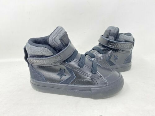 Converse Toddler Boy/'s Pro Blaze High Top Shoes Black # 762818C 146G tk NEW