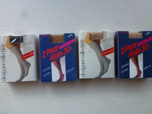 Damen Fein Kniestrümpfe 30den Doppelpack Gr.35-41 Kniestrumpf Silkona NEU