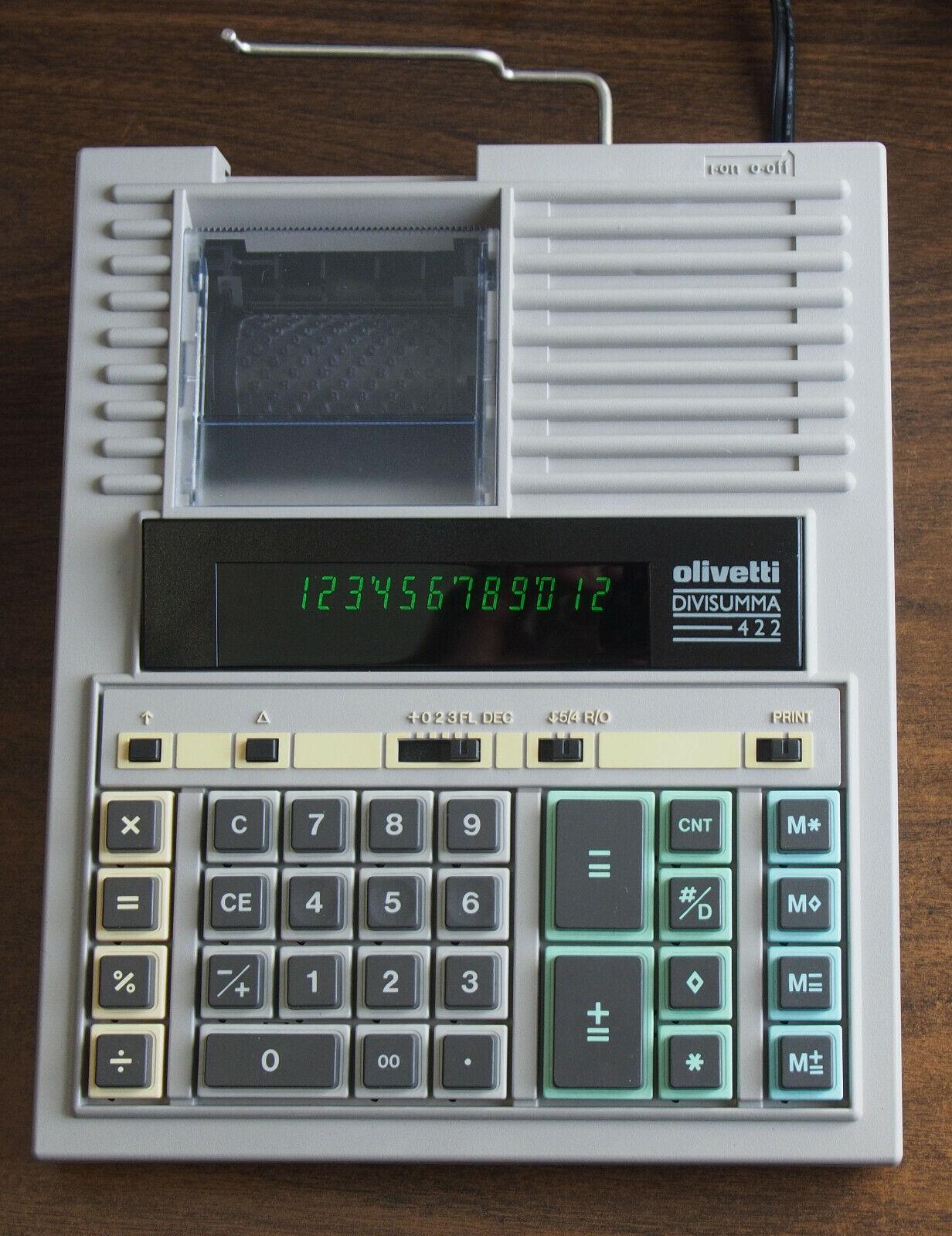 Olivetti Divisumma 422 Electronic Printing Calculator - Tested