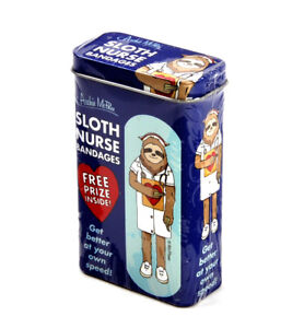 Sloth-Nurse-Bandages-Plasters-Band-Aids-In-A-Tin