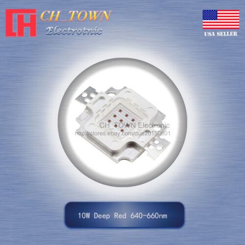 1Pcs 10W Watt High Power Deep Red 640-660nm SMD LED Chip COB Lamp Lights Board
