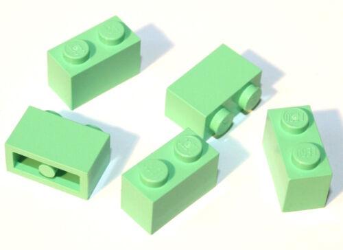 5x LEGO® Stein 1x2 3004 NEU Mittel-Grün Medium Green Seltene Farbe