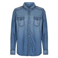 Boys Denim Look Shirt 100% Cotton 3 - 7 Years