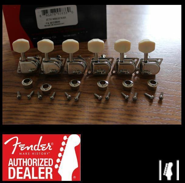 NICKEL NEW Schaller F-Series 70/'s Fender Strat Diagonal Mount Tuners 6 In-Line