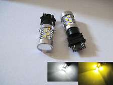 2x 3157 SRCK / CK Samsung 3535SMD 40W high power LED White / Yellow Switchback