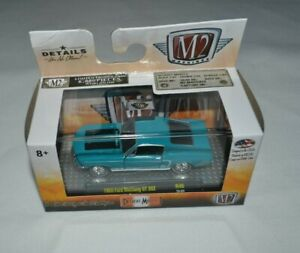 1968 Ford Mustang GT 302 TURQUOISE *** m2 MACHINES Detroit Muscle 1:64 Nouveau