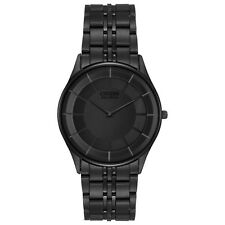 Citizen Eco-Drive Stiletto Men's Black Dial Black Bracelet 36mm Watch AR3015-53E