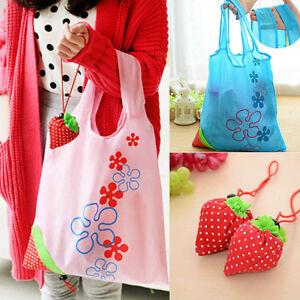 Hot Eco New Handbag Strawberry Foldable Shopping Bags Reusable Bag 8 colors