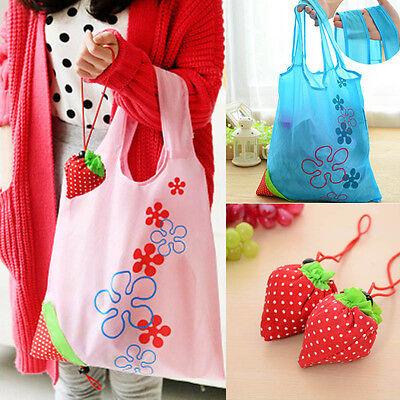Fashion Eco Handbag Strawberry Foldable Shopping Bags Reusable Bag 8 colors Hot