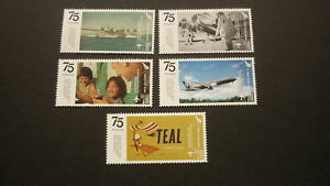 2015-NEW-ZEALAND-STAMPS-75-YEAR-OF-AIR-NEW-ZEALAND-TEAL-SET-OF-5-MINT-STAMP-MNH