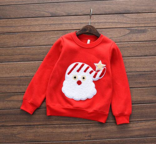 UK Venditore * Kids Christmas Santa Felpa Maglione 3-7 anni