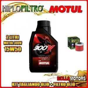 KIT-TAGLIANDO-2LT-OLIO-MOTUL-300V-15W50-HONDA-CRF450-R-3-4-5-6-7-8-450CC-2003-20