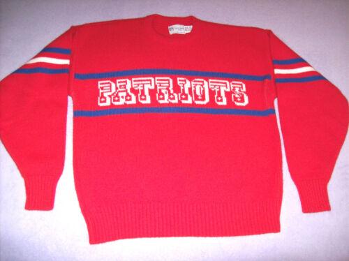 England Vintage Medium Patriots Red Ltd Slim Engle Por New Sweater Cliff Fit 55rqBZg