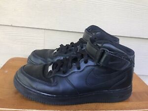 Nike-Air-Force-1-MID-034-07-Triple-Black-315123-001-Men-039-s-Sneakers-Shoes-Size-8-5