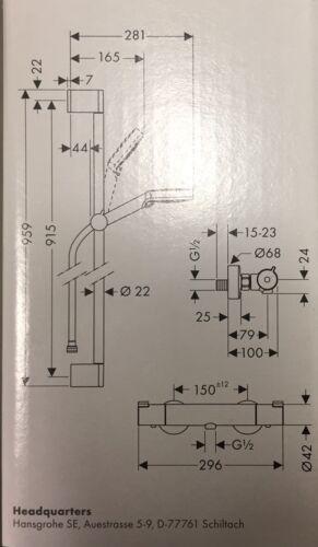 hansgrohe Crometa Vario Combi Set Kombi Set 27813400 Ecostat 1001 CL Thermostat