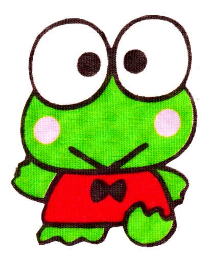 Hello kitty keroppi frog fabric applique iron on 3 inch
