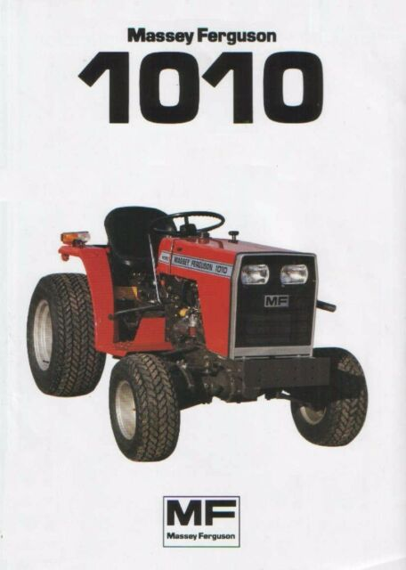 MASSEY FERGUSON MF1010 1020 WORKSHOP SERVICE MANUALS for MF 1010 Tractor  Repair | eBay