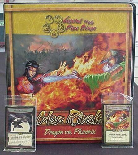 L5R Dragon vs Phoenix Clan Rivals Binder w//Foil  Set