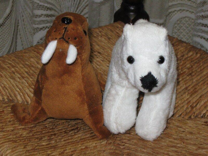 Plus Supermarkets Netherlands Polar Bear & Walrus Plush