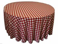8 Packs 120 Inch Gingham Checkered Tablecloths Buffalo Polyester Made In Usa