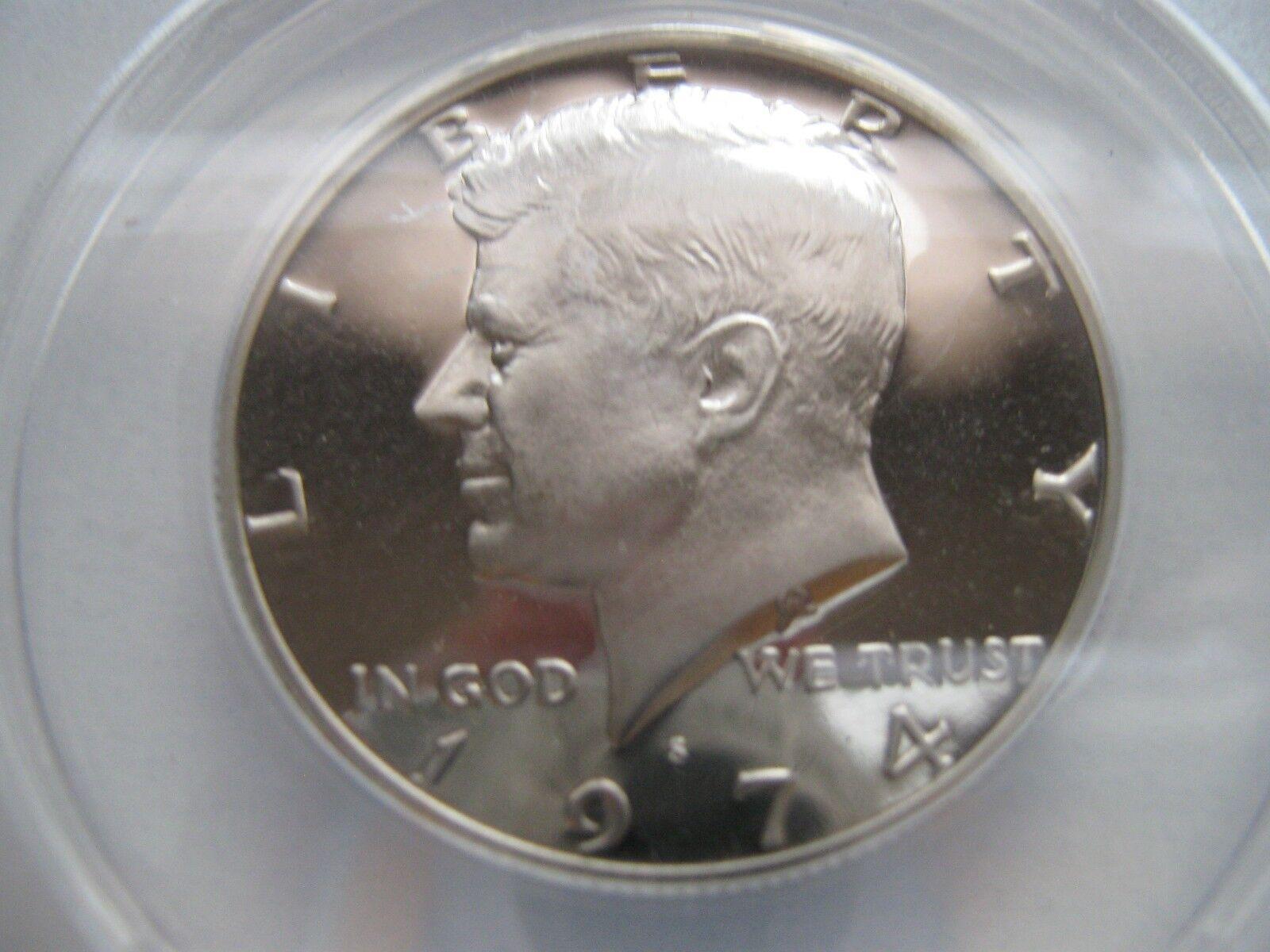Kennedy Half Dollar , 1974-S , Proof 68 , DCAM , ANACS
