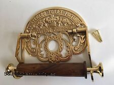Victorian Toilet Roll Holder Unusual Novelty Vintage Retro Waterloo Brass Gold