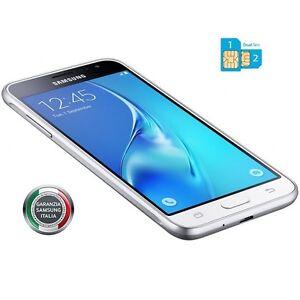 Smartphone-Samsung-J3-2016-WHITE-DUAL-SIM-4G-Gar-24-Mesi-Nuovo-J320-FODERO-TPU