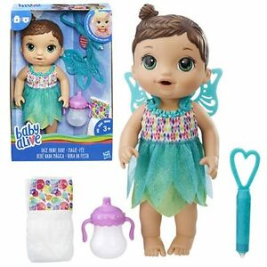 Baby-Alive-Face-Paint-Fairy-Doll-Brunette-Drinks-and-wets-New-in-stock
