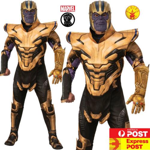 Mens Deluxe Thanos Costume Avengers 4 Adult Endgame Marvel Superhero Book Week