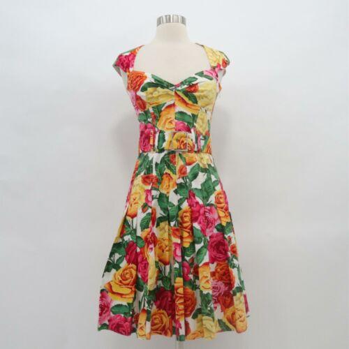 Karen Millen A-Line Dress US 2 Sweetheart Neck Flo