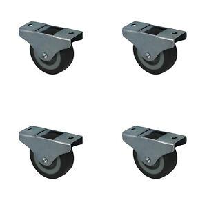 4 x 50 mm Kastenrolle Möbelrolle Kastenbockrolle Bettkastenrolle Rollen