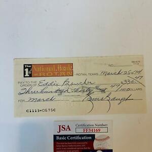 Sammy Baugh Signed Autographed Original 1974 Check With JSA COA