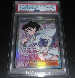 PSA-10-GEM-MINT-Diantha-130-131-SM-Forbidden-LIght-FULL-ART-Pokemon-Card