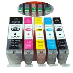 5-Compatible-Canon-PGI-570-CLI-571-Cartouche-D-039-encre-XL-Ensemble-Pour-Pixma