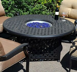 Image Is Loading Fire Pit Table Set Elisabeth Propane 5pc Patio