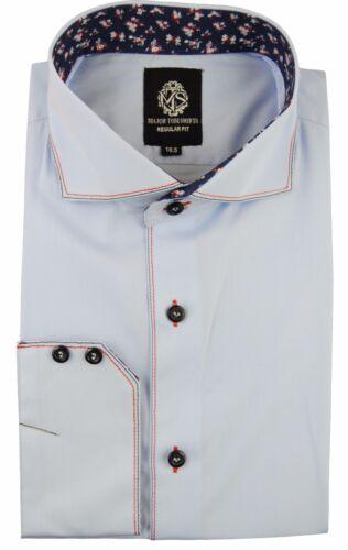 formal casual and luxury designer regular fit shirt Men/'s Italian dress