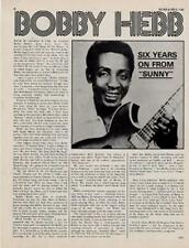 Bobby 'Sunny' Hebb Interview/Article